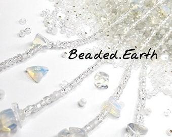 Kristal • Opalite + Clear Quartz • Waist Beads & More