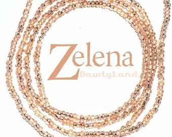 Zelena • Premium Waist Beads • Rose Gold & Goddess