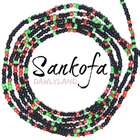 Sankofa ~ Custom Fit Waist Beads & Mega Wraps