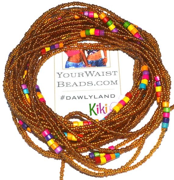Waist Beads & More ~Kiki~ Bracelet Anklet or #Beadkini with Wood Accents