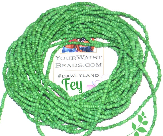 Fey ~ Green Custom Waist Beads & More