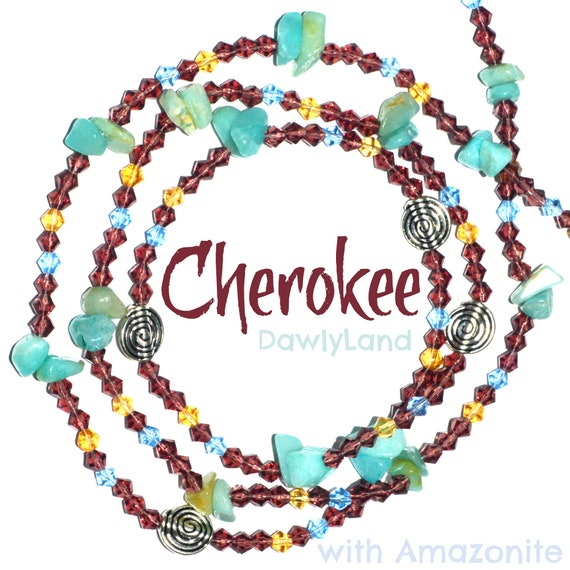 Cherokee ~ Amazonite Crystal Waist Beads ~ Elite One of a Kind