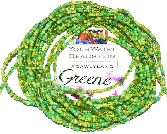 Green Waist Beads & More ~ Greene ~ Anklet Bracelet or Beadkini