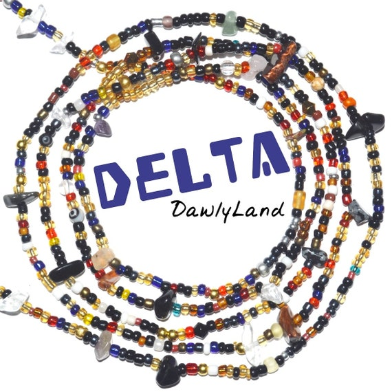 Delta • Premium Waist Beads • with Mixed Gemstones