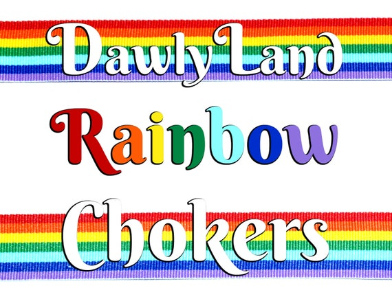 Rainbow Chokers / Headbands ~ with Clasp or Tie closure