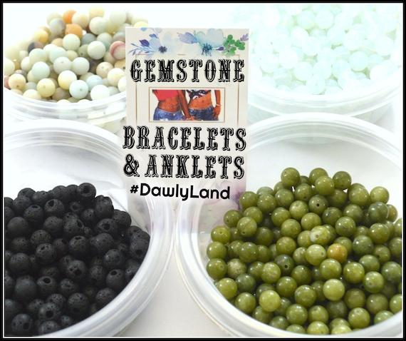 Healing Gemstone Bracelet or Anklet