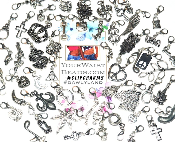Individual ClipCharms ~ for Waist Beads Jewelry Dreads Charm Bracelets and more!
