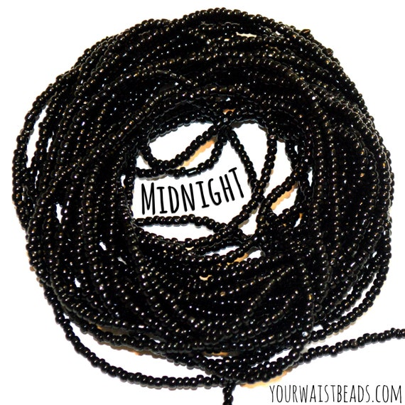 Midnight ~ Black Custom Waist Beads & More