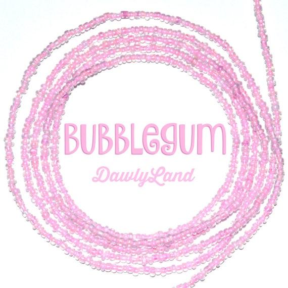Bubblegum ~ Tiny Bead ~ Pink Custom Fit Waist Beads