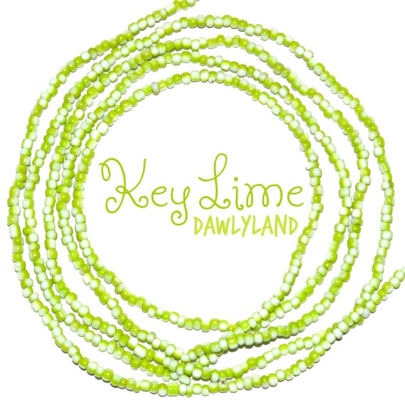 Key Lime ~ Custom Fit Waist Beads & Mega Wraps