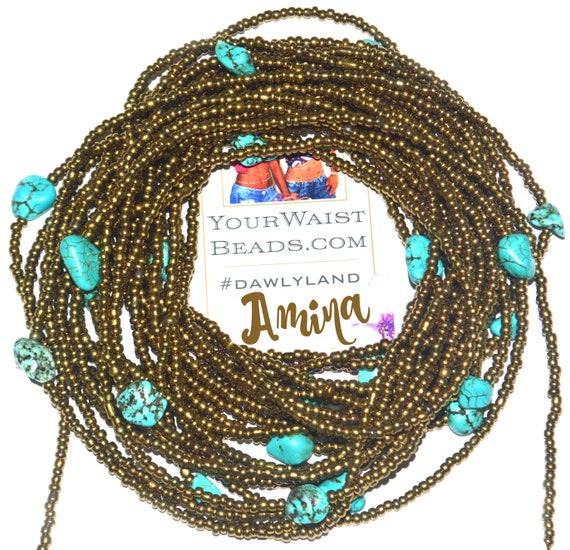 Amina ~ Gemstone Waist Beads & More ~ with Turquoise