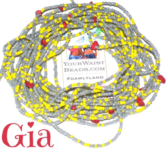 Gia ~ Gemstone Waist Beads & More with Coral and Jasper
