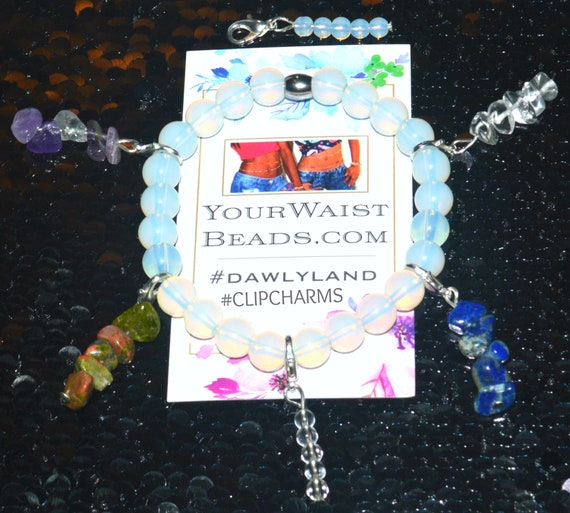 Gemstone ClipCharms ~ Clip to Anything! Waist Beads Hair Jewelry etc