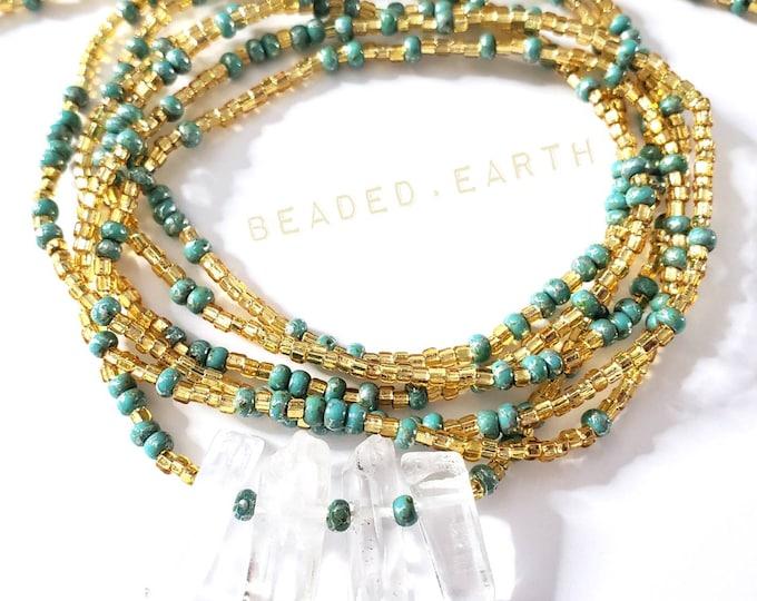 Featured listing image: Dutchess • Quartz Custom Waist Beads Deluxe