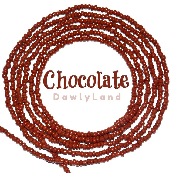 Chocolate ~ Custom Fit Waist Beads & Mega Wraps