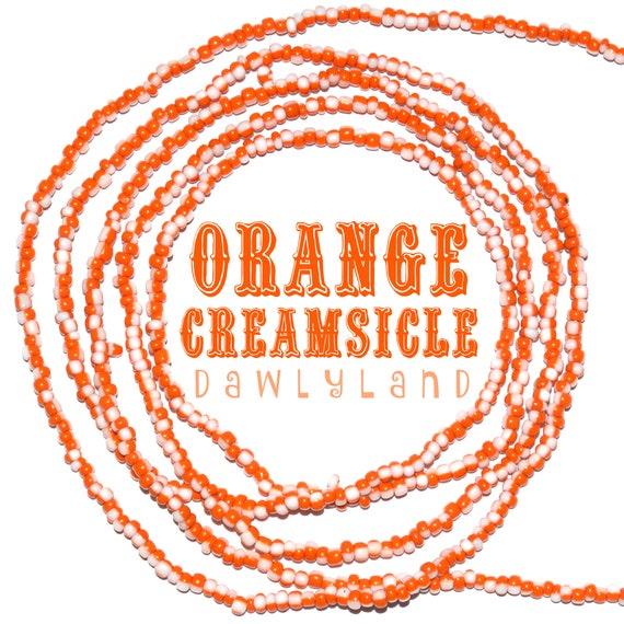 Orange Ceamsicle ~ Custom Fit Waist Beads & Mega Wraps