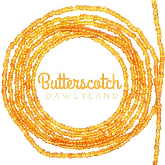 Butterscotch ~ Custom Fit Waist Beads & Mega Wraps
