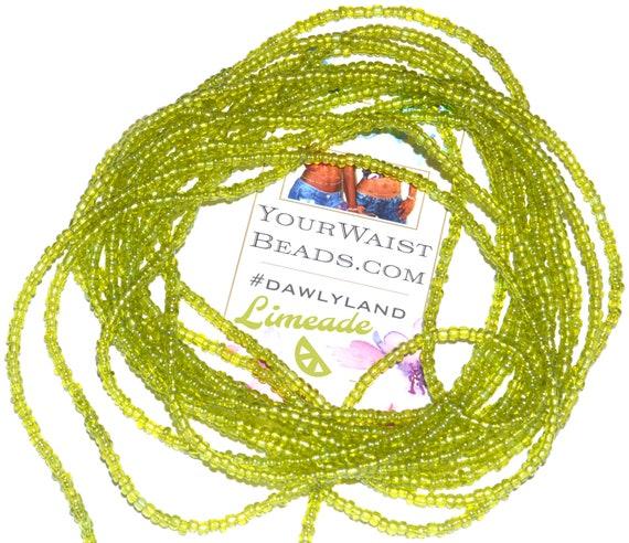 Waist Beads & More ~ Limeade ~ Bracelet Anklet or #Beadkini