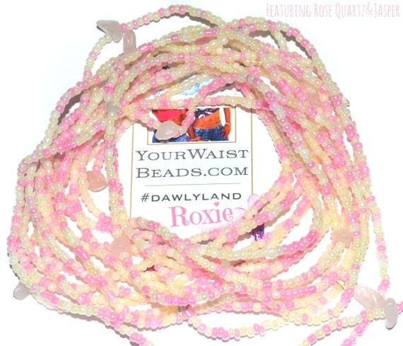 Roxie ~ Gemstone Waist Beads & More with Rose Quartz and Jasper