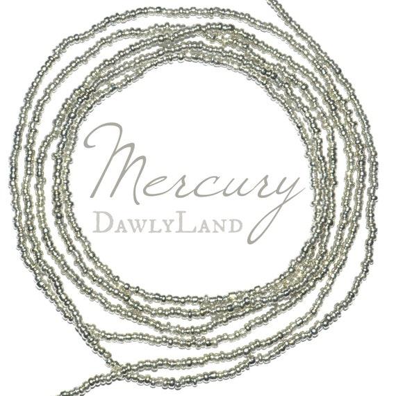 Mercury ~ Tiny Bead ~ Silver Custom Fit Waist Beads