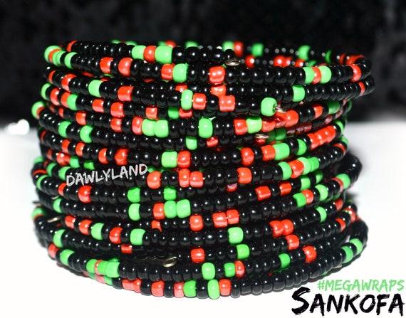 Sankofa ~ Select #MegaWraps ~ Wrap Bracelet Armband