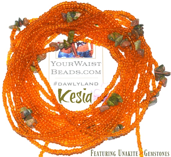Kesia ~ Gemstone Waist Beads & More ~ with Unakite
