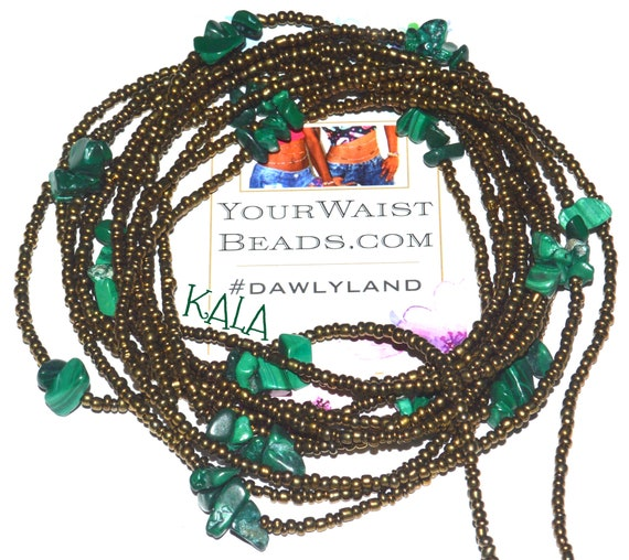 Waist Beads & More ~Kala~ Bracelet Anklet or #Beadkini  (w. Malachite ) LAST ONE