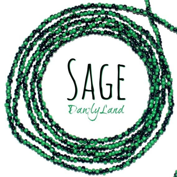 Sage ~ Custom Fit Waist Beads & Mega Wraps