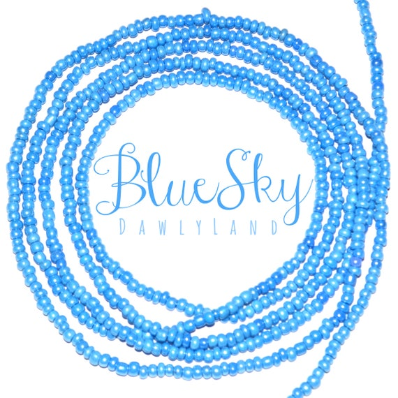 Blue Sky ~ Custom Fit Waist Beads & Mega Wraps