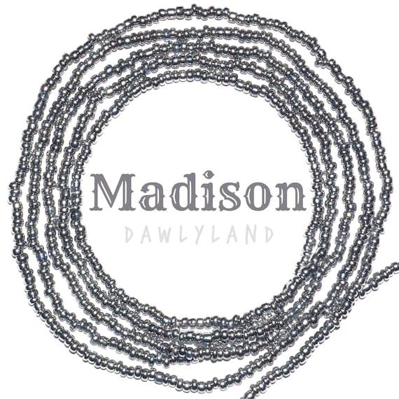 Madison ~ Silver Custom Fit Waist Beads