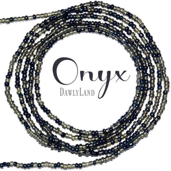 Onyx ~ Custom Fit Waist Beads & Mega Wraps