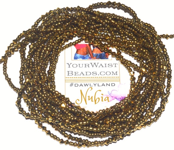 Waist Beads & More ~ NUBIA ~ Bracelet Anklet or #Beadkini ~ with Heavy Crystals