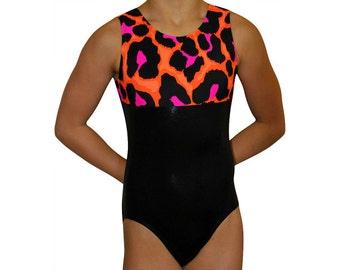 68e70f20f7 Gymnastics Leotard Girls Bodysuit Dance Leotard - Cheetah Print