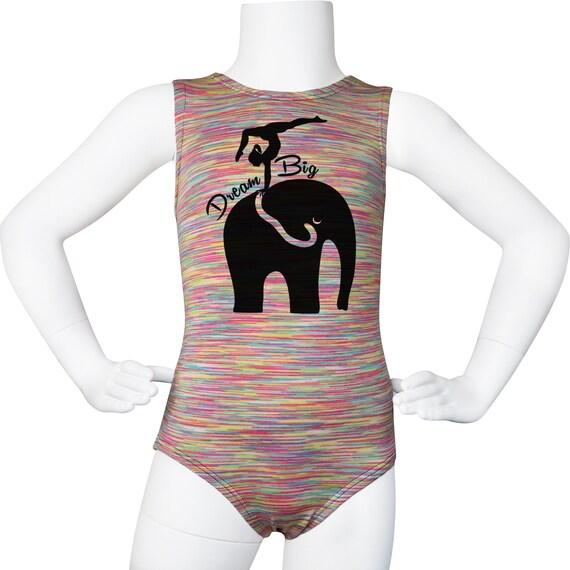 AERO Leotards Girls Gymnastics Leotard Elephants