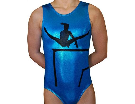 8fdccf9e9 Gymnastics Leotard Girls Bodysuit Dance Leotard - Gymnast Bars Silhouette