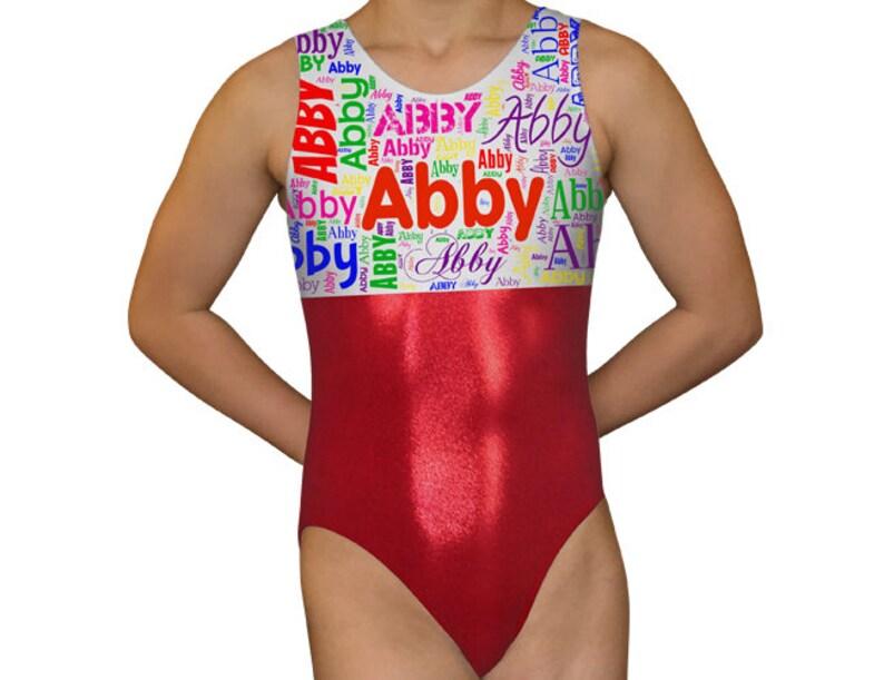 8b094c63d86a Gymnastics Leotard Girls Bodysuit Dance Leotard Personalized