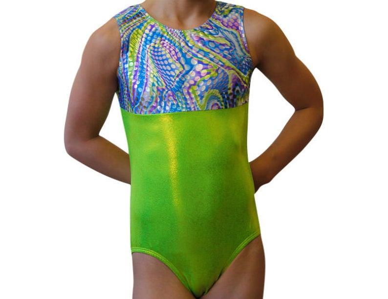 7fa6f4bc2524 Gymnastics Leotard Girls Bodysuit Dance Leotard Holographic