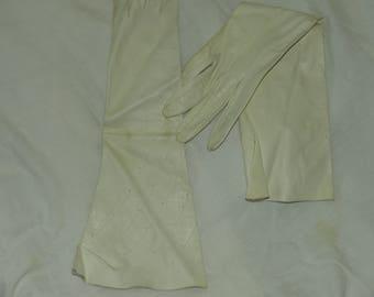 Vintage Opera Length Kid Gloves