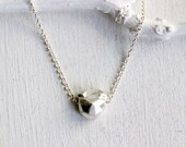 Faceted Dog Sterling Silver Necklace