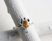 Small Giraffe Citrine Ring,Sterling Silver Giraffe Ring,Giraffe Fine Jewelry,MADE TO ORDER
