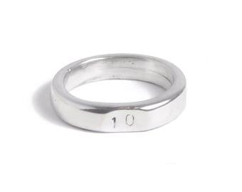 ebb8463105 10 Years Wedding Anniversary 10 Stamped Signet Ring - 100% Pure Tin