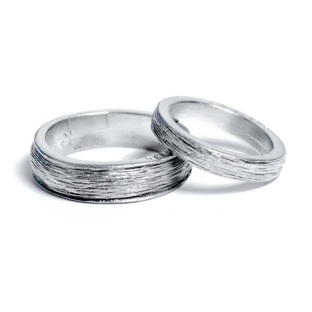 Him and Hers 100% Pure Tin Rings Inscribed with \'Ten