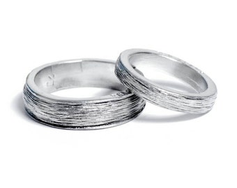 10th Year Wedding  Anniversary Tin Rings for Him and Her – Inscribed with 'Ten Years'