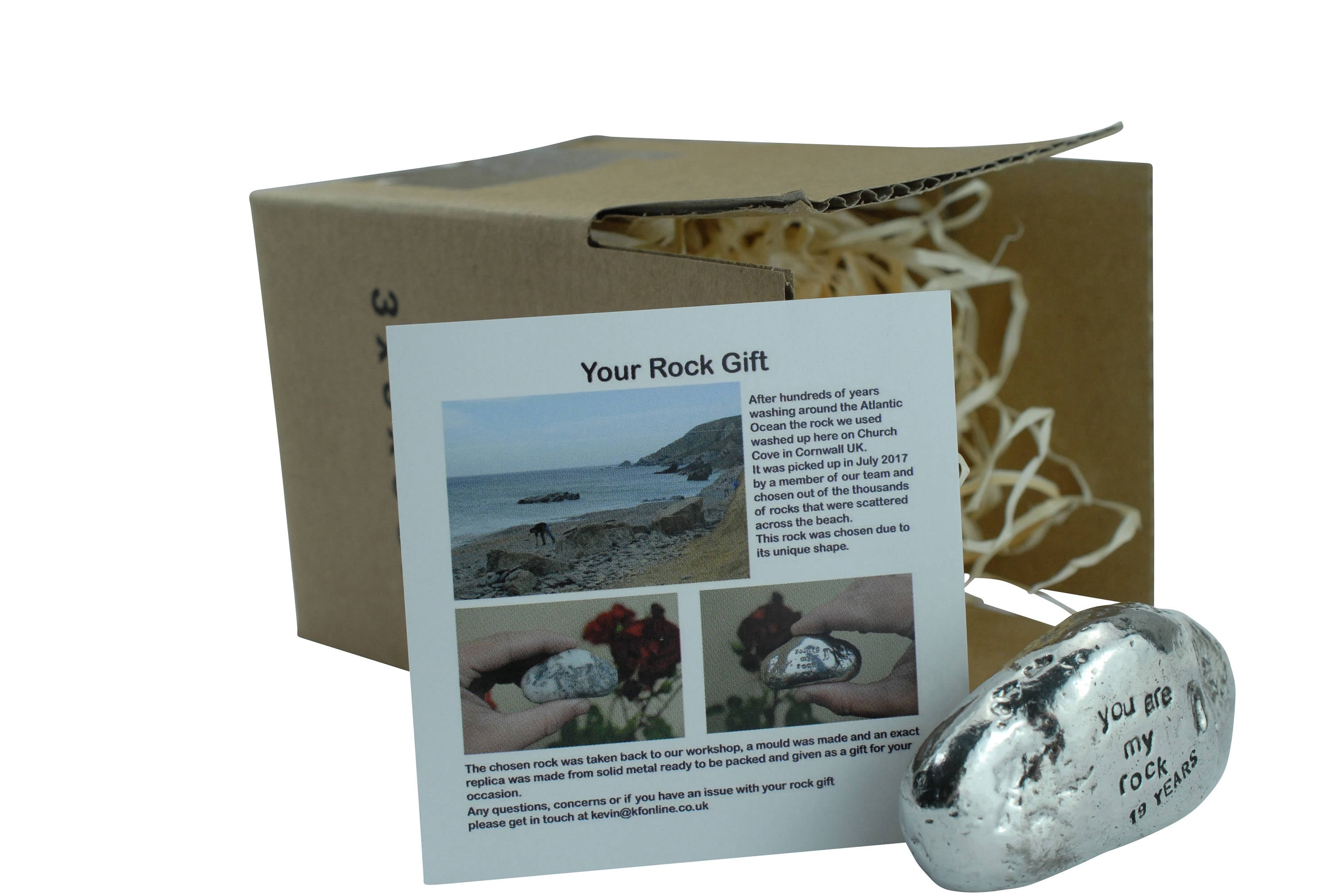 Gift For 19th Wedding Anniversary: 19th Anniversary You Are My Rock Gift Idea Solid Metal
