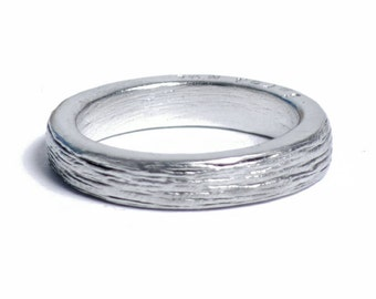 10 Year Anniversary Ladies Pure Tin Ring Inscribed with 'Ten Years'