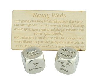 Newly Wed - Date Night Decider Dice, Wedding Gift, Newly Weds