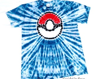 dbd25bbf Tie Dye inspired by Pokemon Pokeball T Shirt Adult Sizes