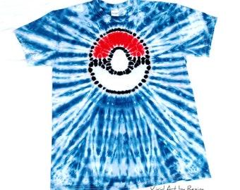 8bccdbe5 Tie Dye inspired by Pokemon Pokeball T Shirt Adult Sizes