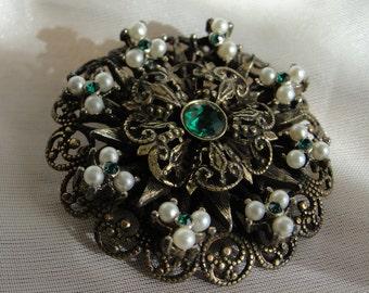 Vintage brooch, vintage pin, vintage jewelry, brooch, old brooch, gypsy jewelry, gypsy brooch, gypsy boho
