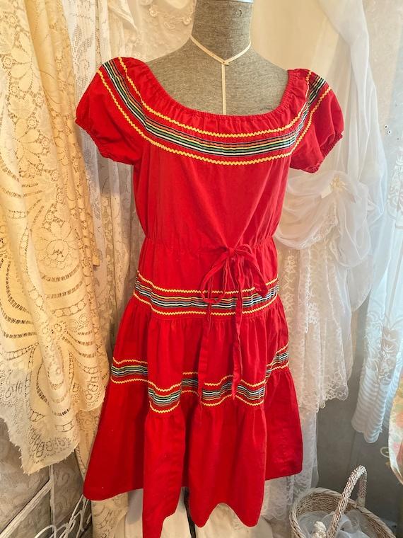 Vintage clothing, womens clothing, red dresses, La
